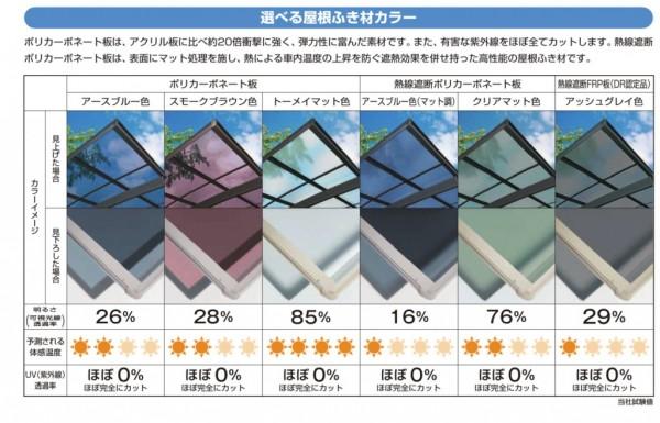 屋根ふき材カラーバリエーション