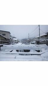 私の田舎の冬景色