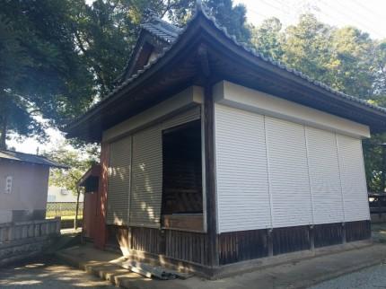 神社のシャッター