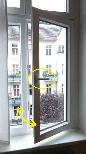 ドイツのホテル窓2