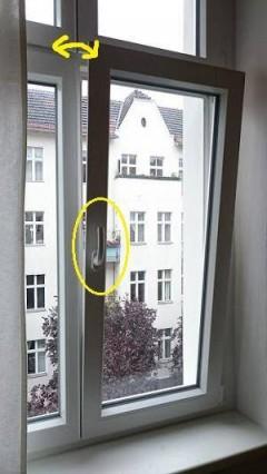 ドイツのホテル窓1