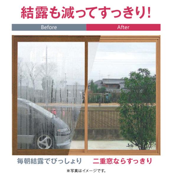 内窓設置後の結露軽減