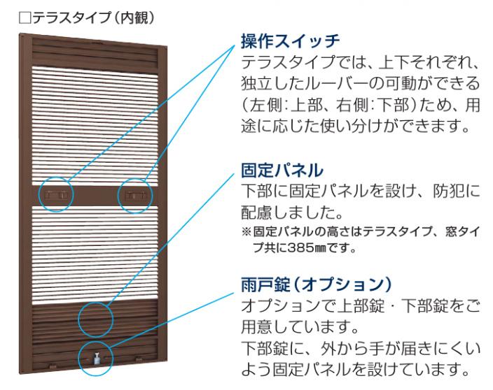 通風雨戸XRA(内観)