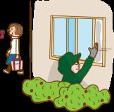 開いている窓から侵入